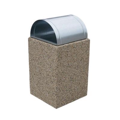 Kosz betonowy 40x40x60 z daszkiem - obrazek