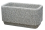 Donica betonowa 100x50x50  szary otoczak