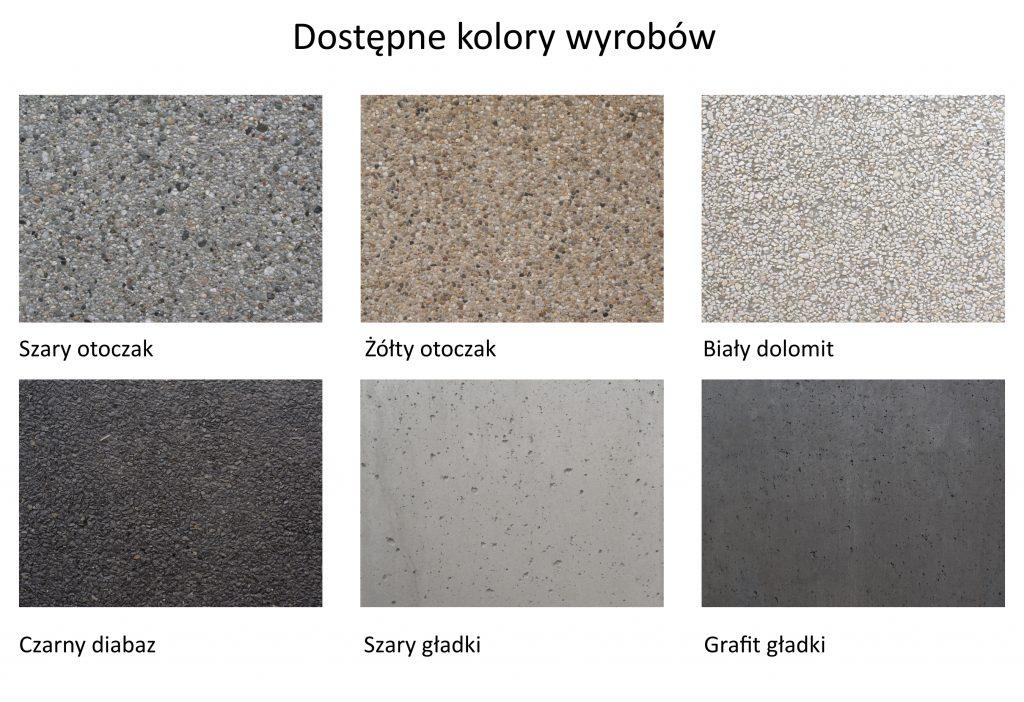 Kolory donic betonowych