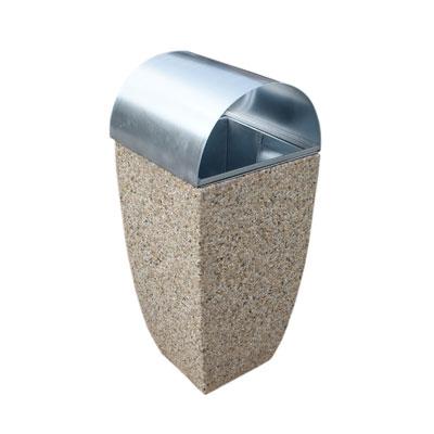 Kosz betonowy 45x45x80 z daszkiem - obrazek