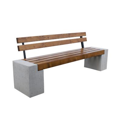 """Ławka betonowa """"Qube"""" z oparciem - obrazek"""