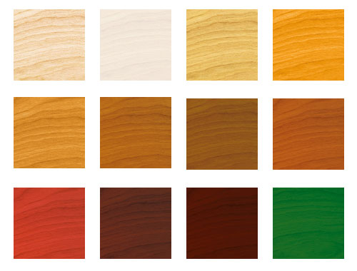 Ławki betonowe - kolory drewnianego siedziska i oparcia